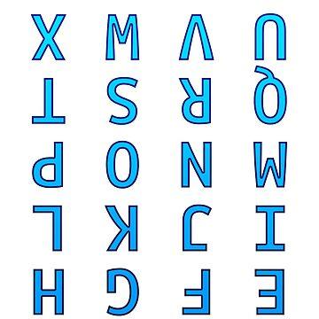 Upside Down Alphabet by fuzzyscene
