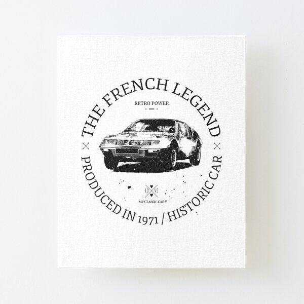Renault Alpine A310 Aufgezogener Druck auf Leinwandkarton