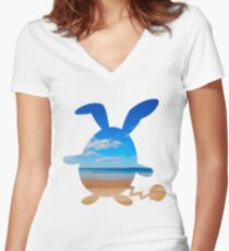 Azumarill used surf Women's Fitted V-Neck T-Shirt