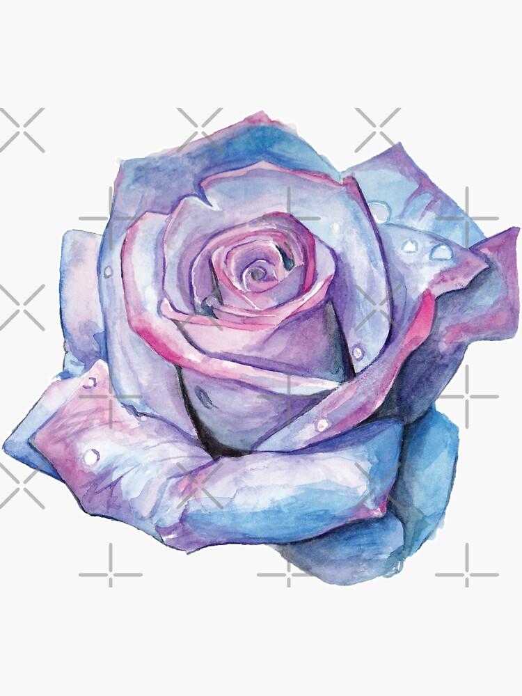 Watercolour Rose by SMalik