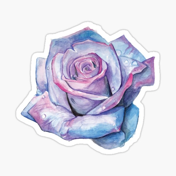 Watercolour Rose Sticker
