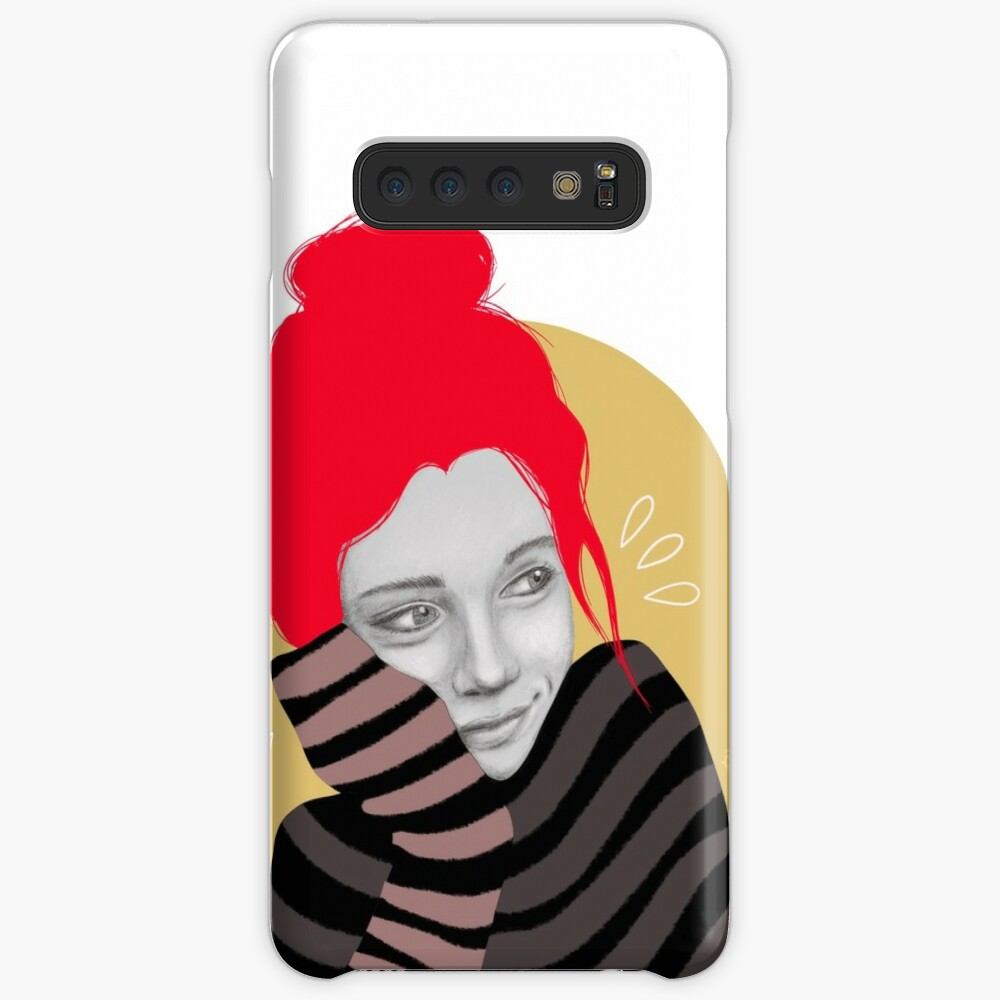 The red haired girl in love, illustration Case & Skin for Samsung Galaxy