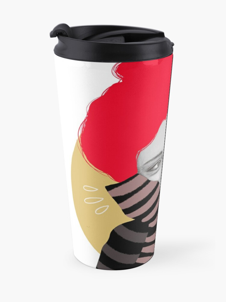 Alternate view of The red haired girl in love, illustration Travel Mug