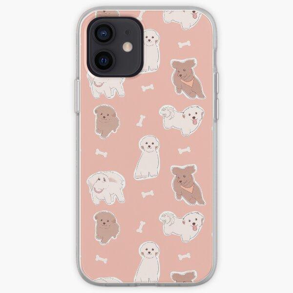 Maltipoo Pattern Set Dogs Bone Treat Puppies Maltipoo Mom Mum iPhone Soft Case