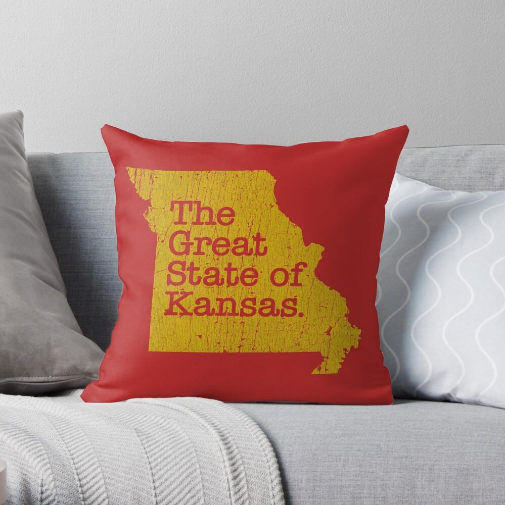 The Great State of Kansas Throw Pillow