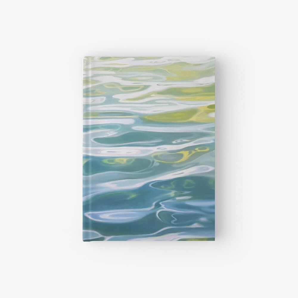 Shoreline - water painting Hardcover Journal