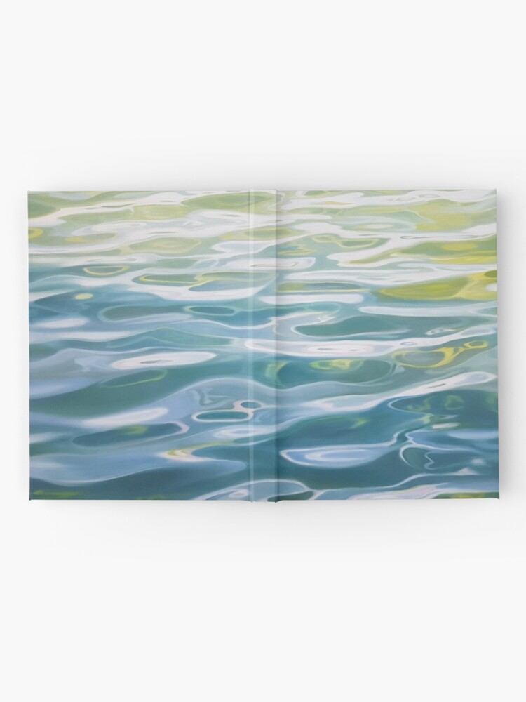 Alternate view of Shoreline - water painting Hardcover Journal