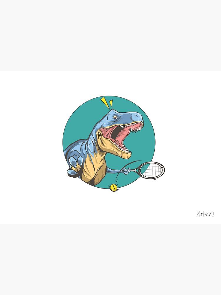 Tennis T-Rex by Kriv71