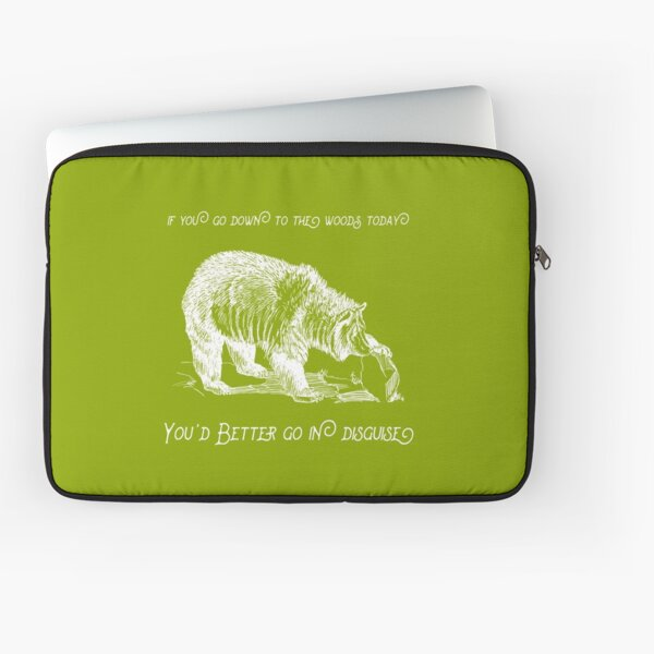 Grizzly Hollow - White Laptop Sleeve