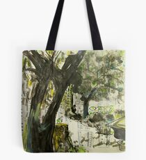 working in the garden Tote Bag
