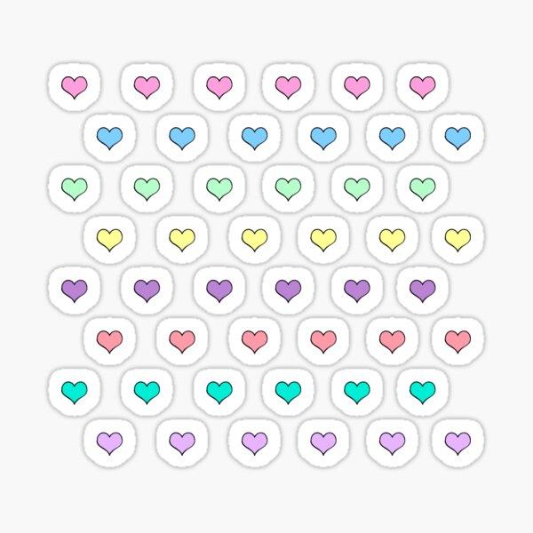 Pastel cute mini hearts rainbow kawaii Sticker
