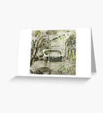 bath and fence Greeting Card