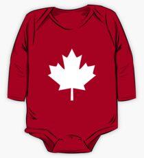 Canada Maple Leaf Flag Emblem One Piece - Long Sleeve