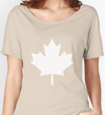 Canada Maple Leaf Flag Emblem Women's Relaxed Fit T-Shirt