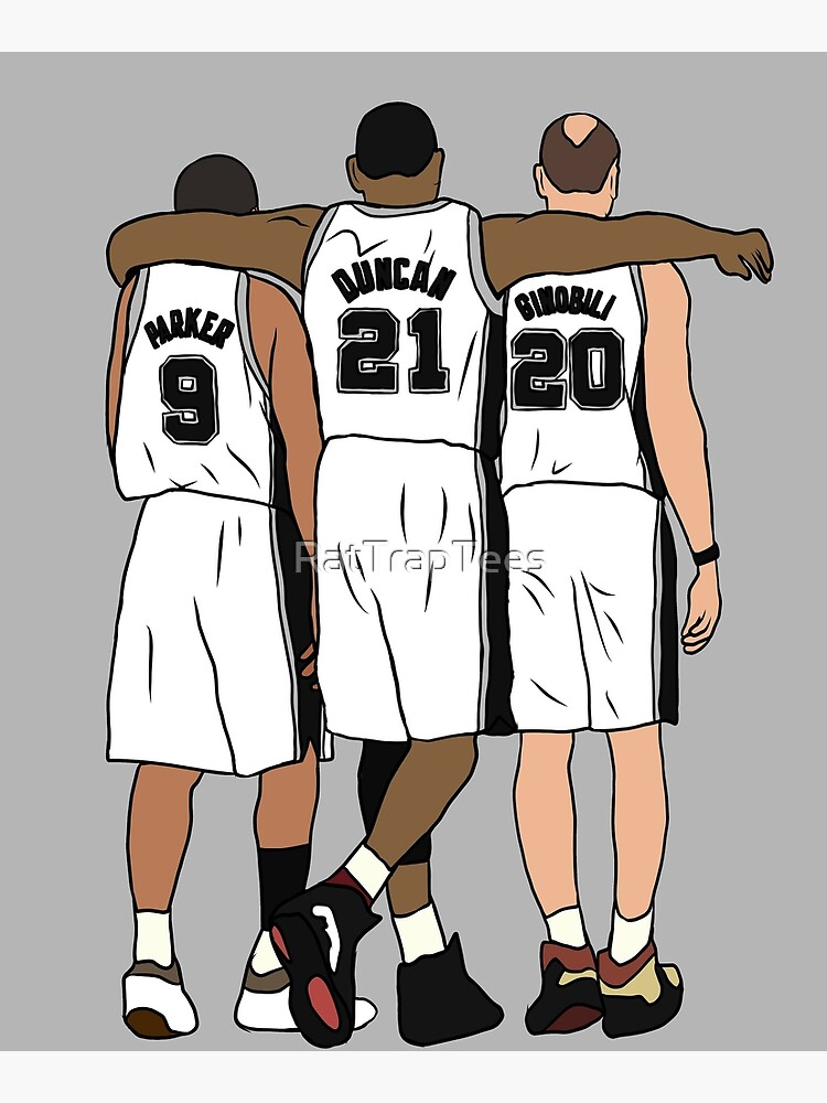 Tony, Tim & Manu by RatTrapTees