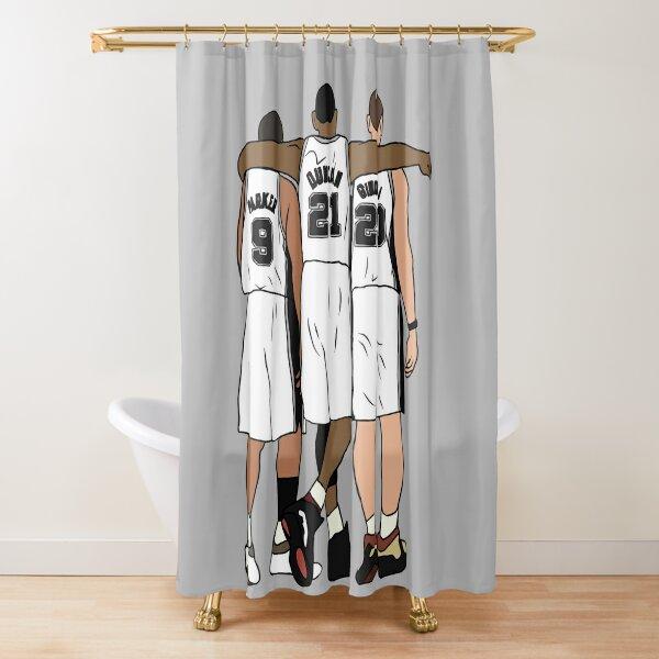 Tony, Tim & Manu Shower Curtain