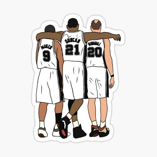 Tony, Tim & Manu Sticker