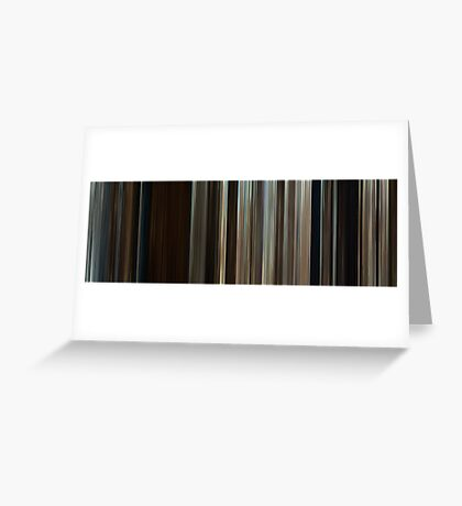 Moviebarcode: Where the Wild Things Are (2009) Greeting Card