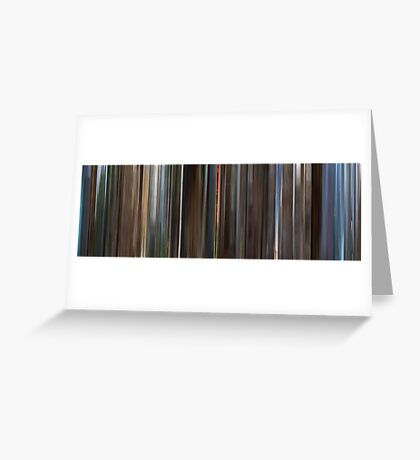 Moviebarcode: Monty Python and the Holy Grail (1975) Greeting Card