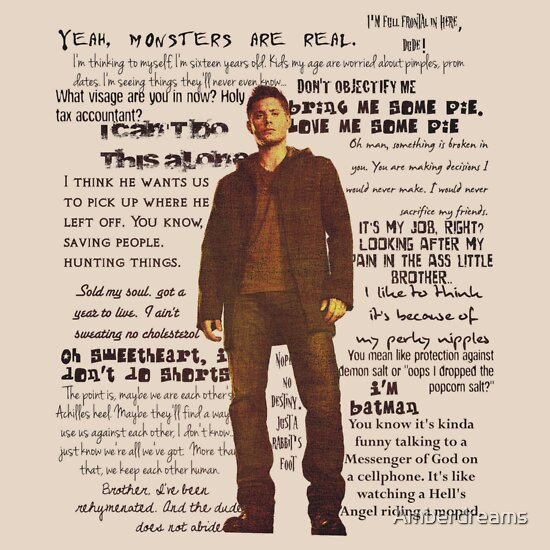 TShirtGifter presents: Dean Winchester quotes - red