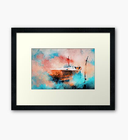 In the morning mist  Framed Print