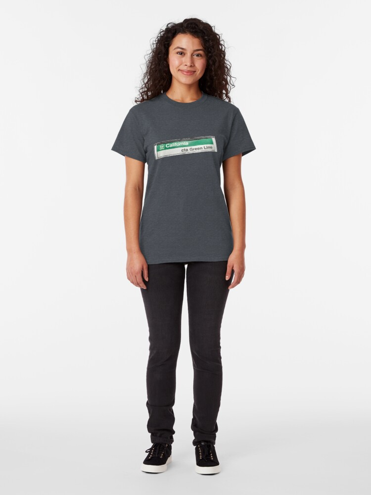 Alternate view of California CTA Green Line Station Sign Classic T-Shirt