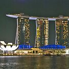 Night in Singapore by Adri  Padmos