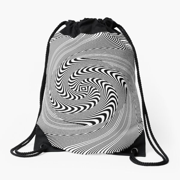 #Pattern, #vortex, #design, #abstract, geometry, creativity, illustration, hypnosis, spiral, intricacy, illusion Drawstring Bag