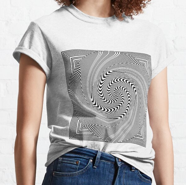 #Pattern, #vortex, #design, #abstract, geometry, creativity, illustration, hypnosis, spiral, intricacy, illusion Classic T-Shirt