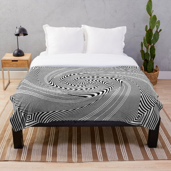 #Pattern, #vortex, #design, #abstract, geometry, creativity, illustration, hypnosis, spiral, intricacy, illusion Throw Blanket