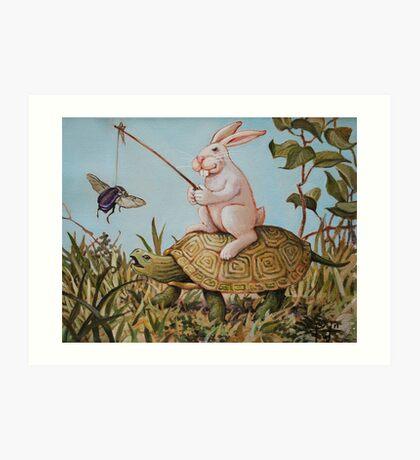 Tortoise and the Hare Art Print