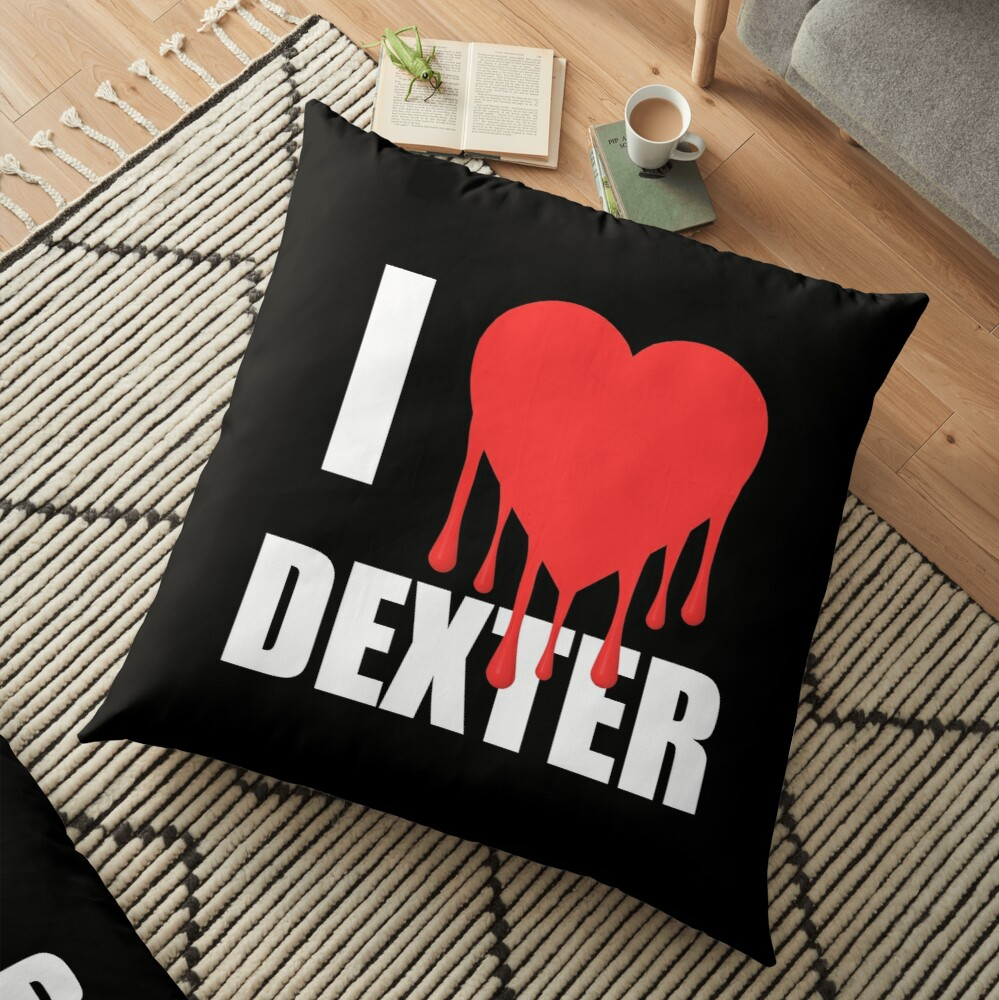 I Love Dexter Floor Pillow