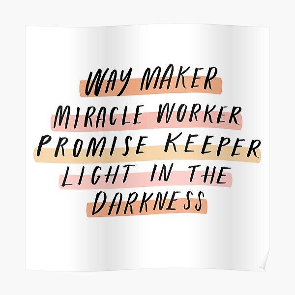 Way Maker Poster