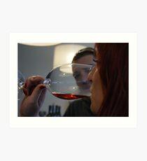 Wine tasting... Art Print