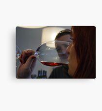 Wine tasting... Canvas Print