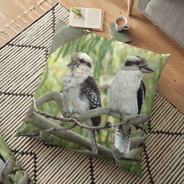 Kookaburra sits in the old gum tree Floor Pillow