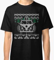 Vintage Retro Camper Van Sweater Knit Style Classic T-Shirt
