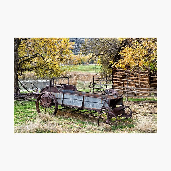Antique Horse-drawn McCormick Deering All-steel 4A Manure Spreader  Photographic Print