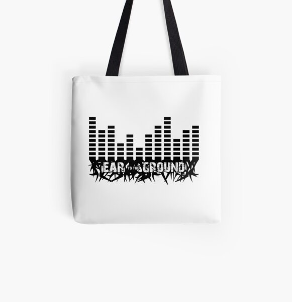 Ear to the Ground White Tote All Over Print Tote Bag