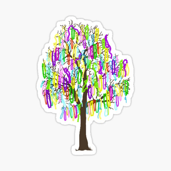 Mardi Gras Tree Sticker