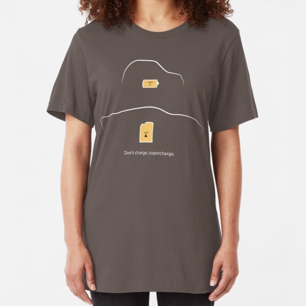 Don't Charge, Supercharge Slim Fit T-Shirt