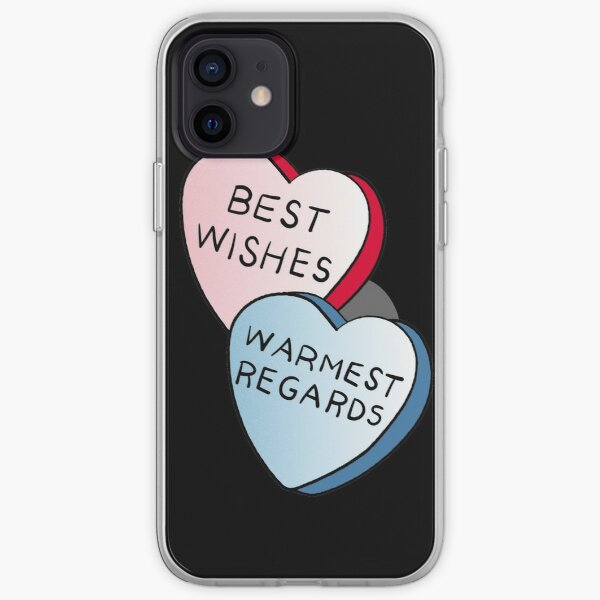 Best Wishes, Warmest Regards on candy. David Rose and Stevie banter awkwardly in Schitt's Creek at the Rosebud Moteel iPhone Soft Case