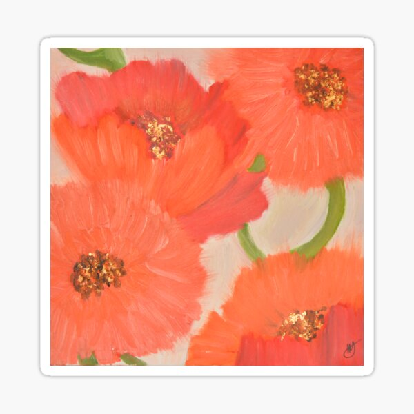 The Red Flowers Sticker