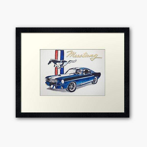 Ford Mustang Lámina enmarcada