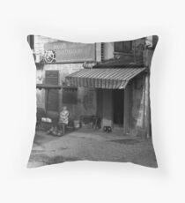 Shop Front, Saigon, Vietnam Throw Pillow