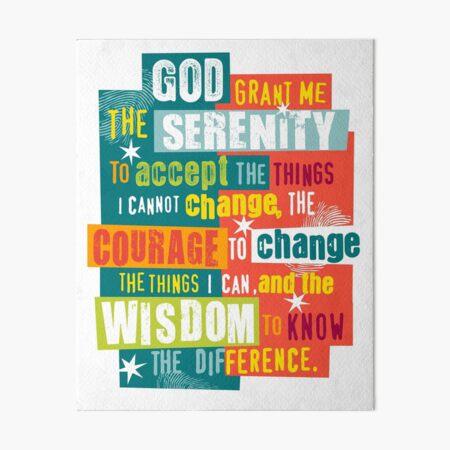 Serenity Prayer Original Graphic design Art Board Print
