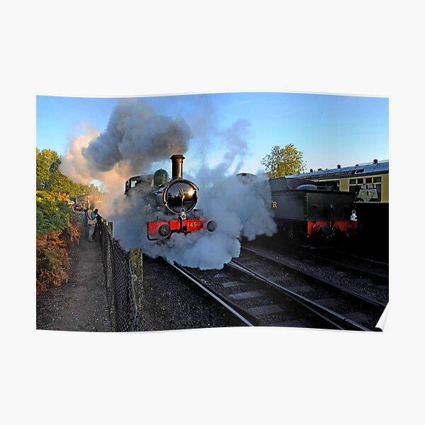 GWR Steam Engine 1450 at dawn Poster