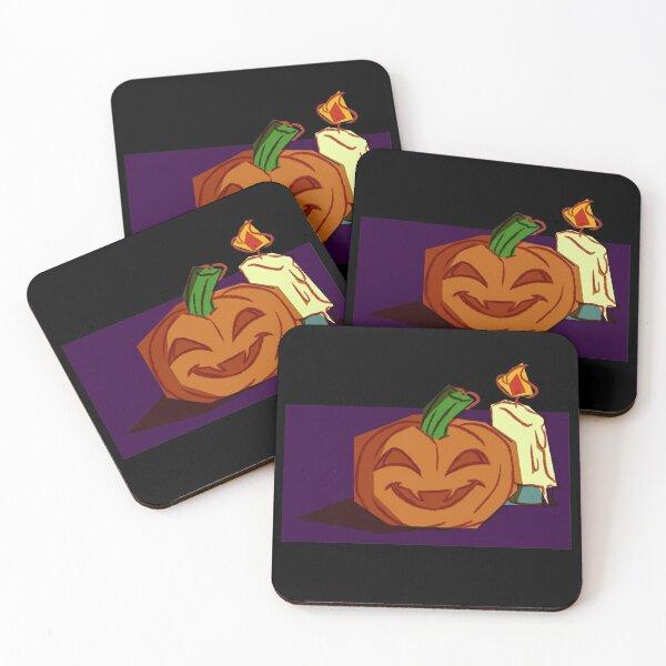 Jack O Lantern Coasters (Set of 4)