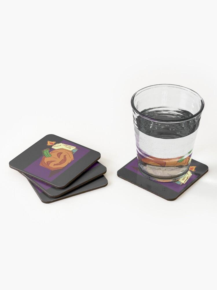 Alternate view of Jack O Lantern Coasters (Set of 4)