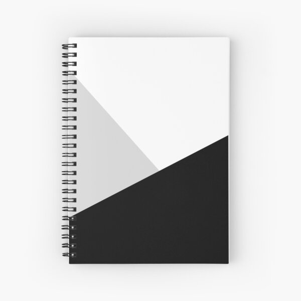Monochromatic Black White Gray Color Block Spiral Notebook